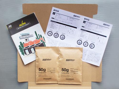 コーヒー定期便/サブスクリプション パッケージの内容