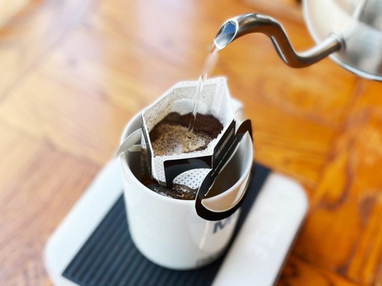ドリップバッグコーヒー 蒸らし