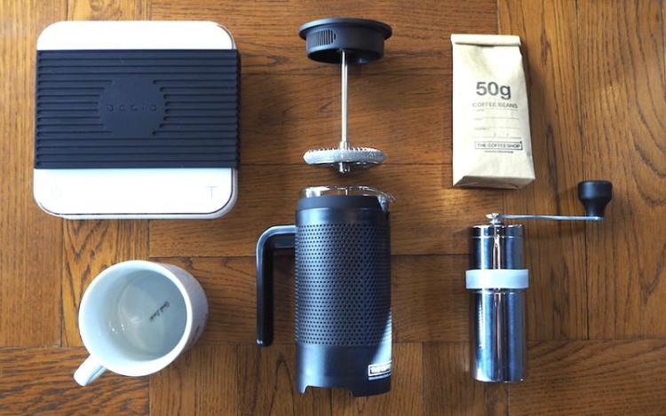 フレンチプレスでのコーヒーの淹れ方|用意するもの
