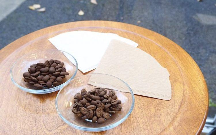 コーヒーペーパーフィルター色