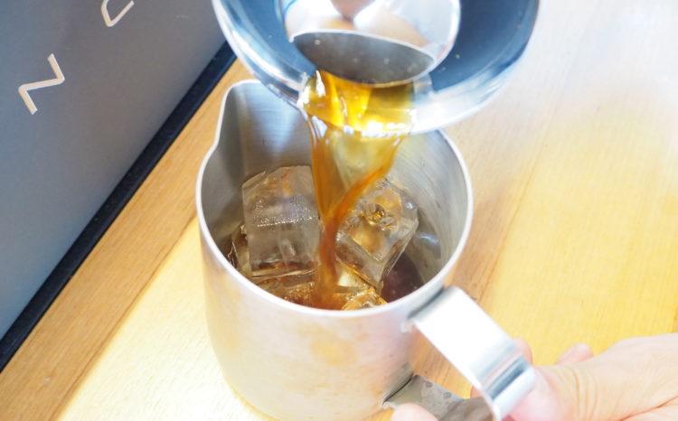 アメリカンプレスアイスコーヒー