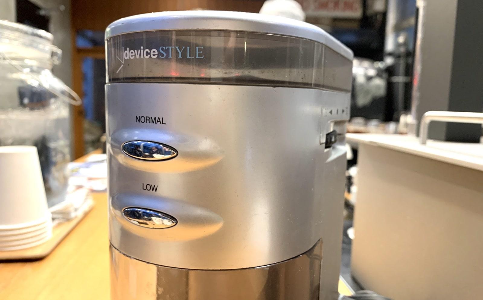 デバイスタイルコーヒーグラインダー