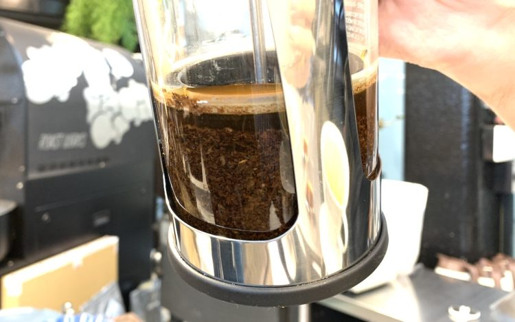 esproプレスのコーヒー